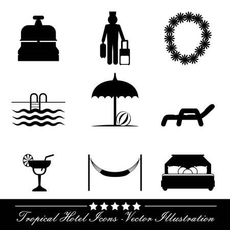 apartment bell: hotel design over white  background vector illustration