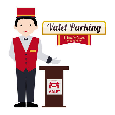 valet: hotel design over white background vector illustration
