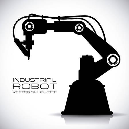 robot vector: robot design over gray background vector illustration