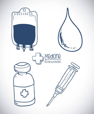 vectro: medicine design over gray background vectro illustration