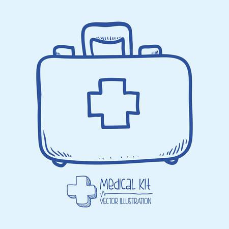 Conception de la médecine sur fond blanc illustration vectro Banque d'images - 31367604
