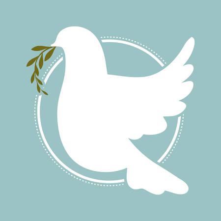 peace design: peace design over blue background vector illustration