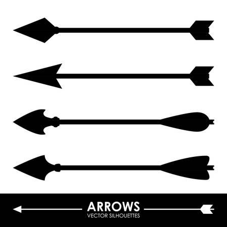 designator: flechas de dise�o sobre fondo gris Ilustraci�n vectorial