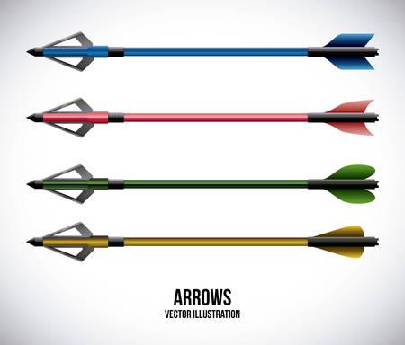 guides: arrows design over gray background vector illustration Illustration