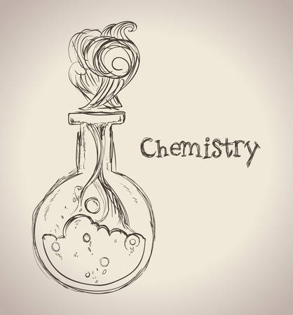 science design over beige background vector illustration Vector