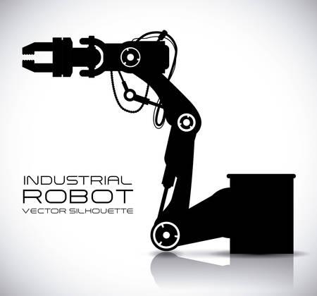 Projeto de robô sobre ilustração vetorial de fundo cinza Foto de archivo - 31368330