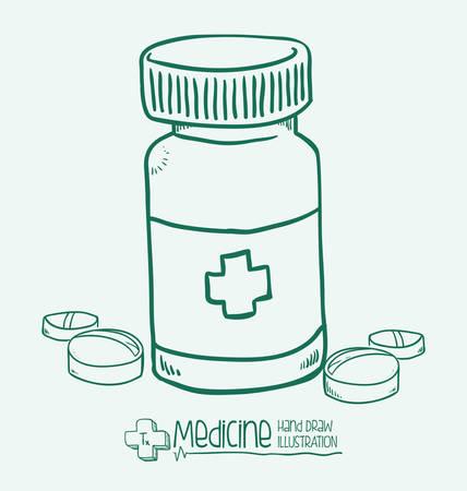 vectro: medicine design over white background vectro illustration