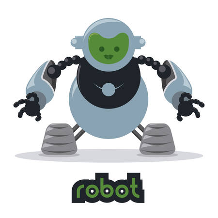 artificial model: robot design over  white background vector illustration