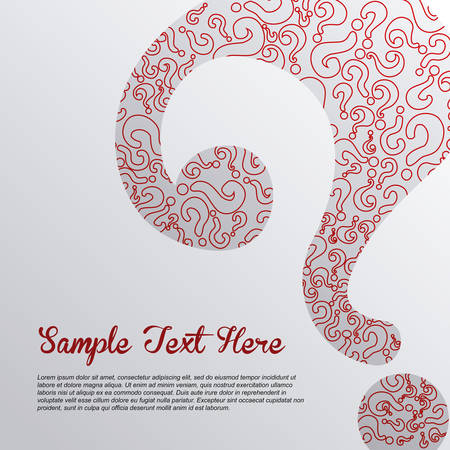question mark: Zweifel Design �ber Hintergrund Vektor-Illustration