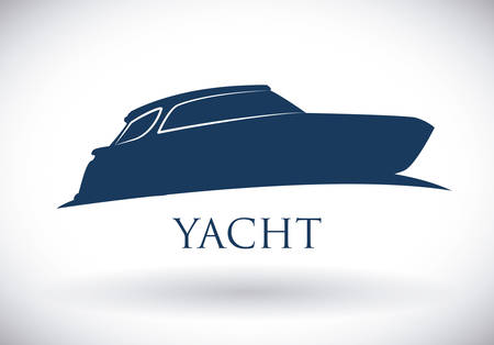 luxury yacht: boat graphic design , illustration