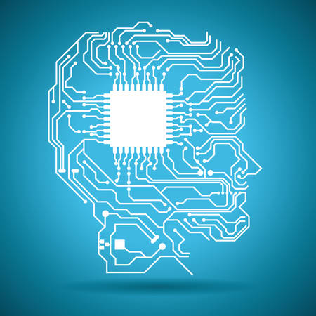 circuit graphic design , illustration  イラスト・ベクター素材