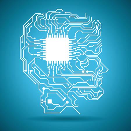 circuit graphic design , illustration Vector