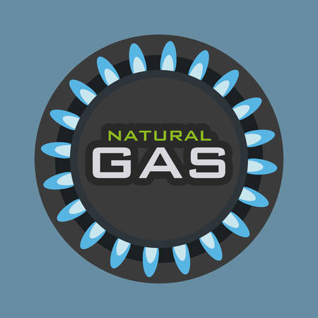 luz natural: dise�o gr�fico de gas natural, ilustraci�n