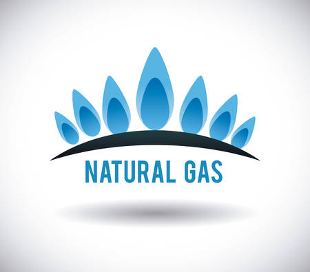 natural gas: gas natural graphic design , illustration