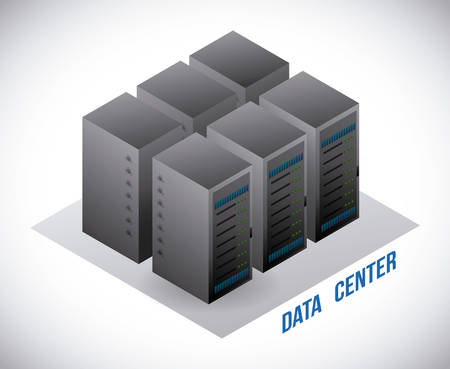 rack server: data center graphic design , illustration