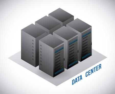 server rack: data center graphic design , illustration
