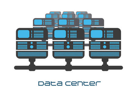 data center graphic design , illustration Vector