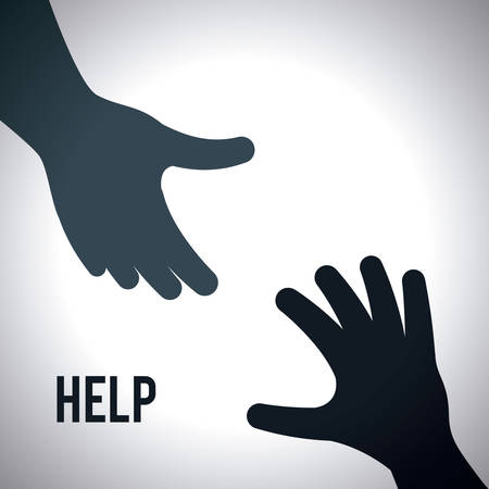 a helping hand: help graphic design , illustration Illustration