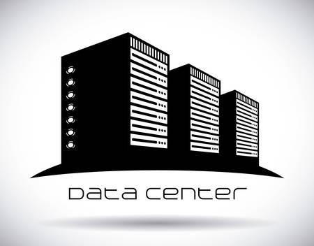 Centrum danych projekt graficzny, ilustracja