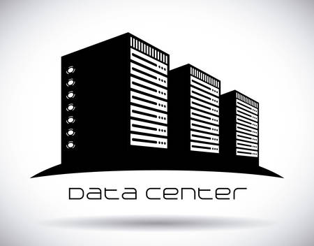 server: data center graphic design , illustration
