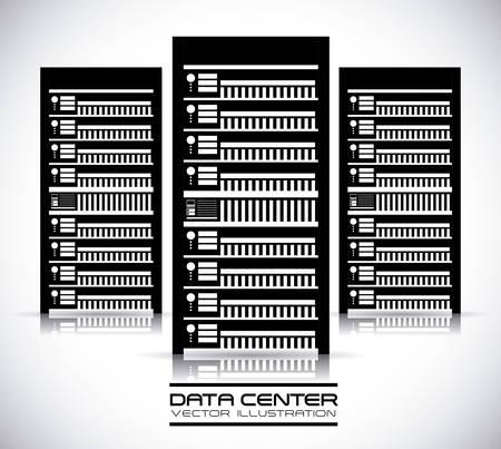 rack server: data center graphic design , illustration