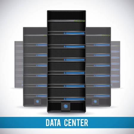 data center graphic design , illustration Vector