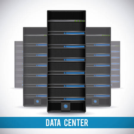 storage room: data center graphic design , illustration