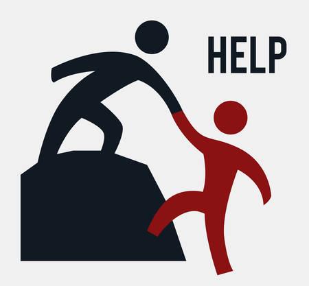 personas ayudando: ayudar a dise�o gr�fico, ilustraci�n