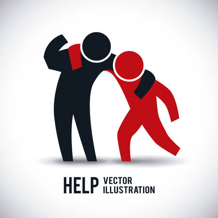 help graphic design , illustration Stock Illustratie