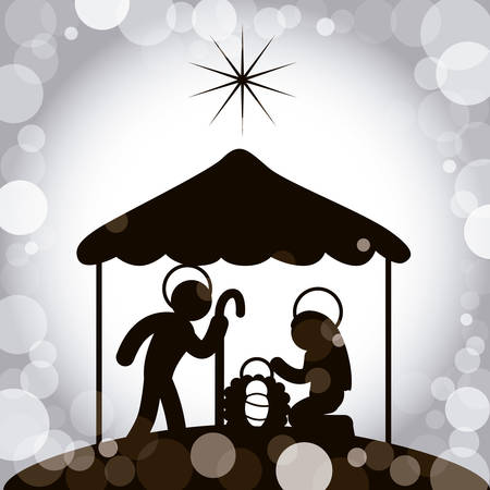 mother and baby: christmas graphic design , vector illustration