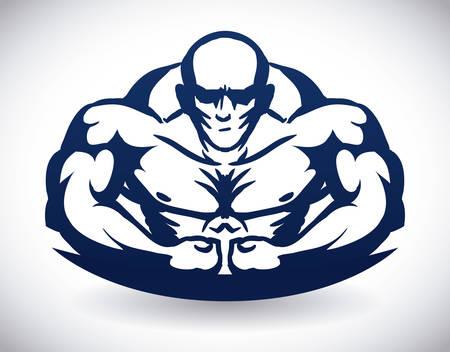 bodybuilding graphic design, illustrazione vettoriale
