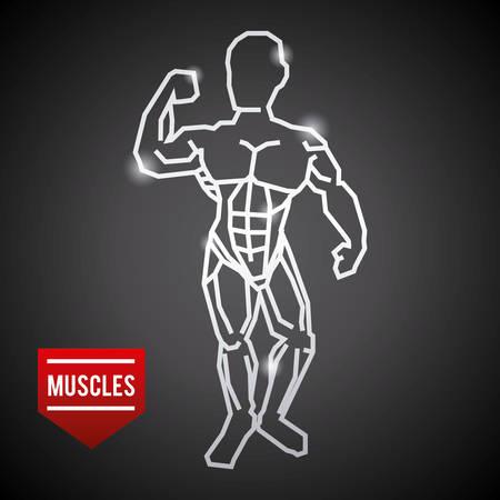 bodybuilding graphic design , vector illustration Illustration
