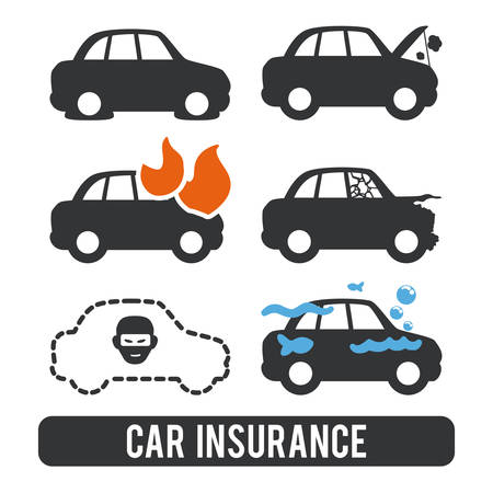 car accident: insurance graphic design , vector illustration