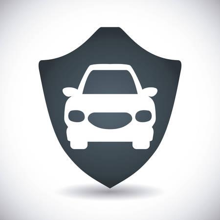 transportaion: insurance graphic design , vector illustration