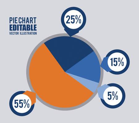 pie: statistics graphic design , vector illustration