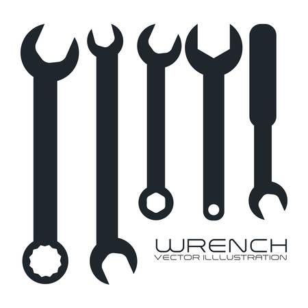 mechanical engineer: tool graphic design , vector illustration Illustration