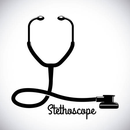 estetoscopio: dise�o gr�fico estetoscopio, ilustraci�n vectorial