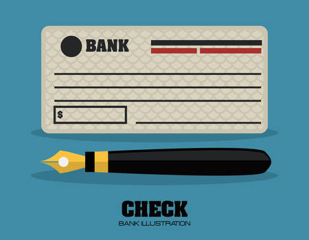 personal banking: controllare la banca graphic design, illustrazione vettoriale