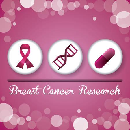 borstkanker grafisch ontwerp, vector illustratie