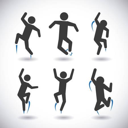 salto largo: saltar de dise�o gr�fico, ilustraci�n vectorial Vectores