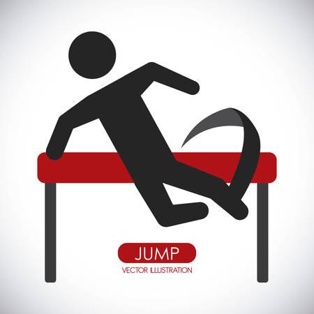 jump graphic design , vector illustration Vector