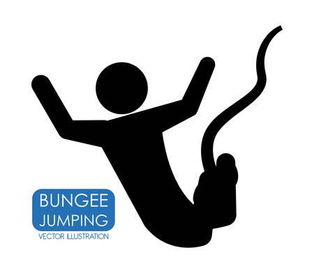 bungee jumping: saltar de diseño gráfico, ilustración vectorial Vectores