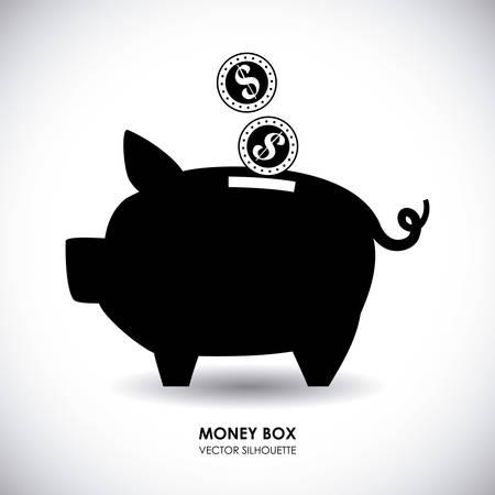 coin bank: saving money graphic design , vector illustration