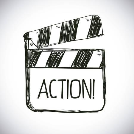 cinematograph: cinema graphic design , vector illustration Illustration