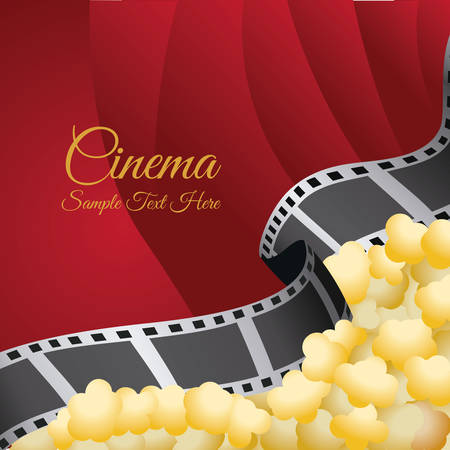 roll curtains: cinema graphic design , vector illustration Illustration