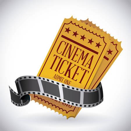 movie ticket: cinema graphic design , vector illustration Illustration