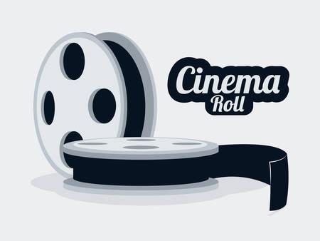 cinematograph: dise�o gr�fico cine, ilustraci�n vectorial