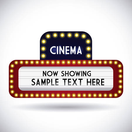 cinema graphic design , vector illustration Illustration