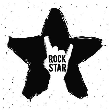hard rock graphic design , vector illustration Vector