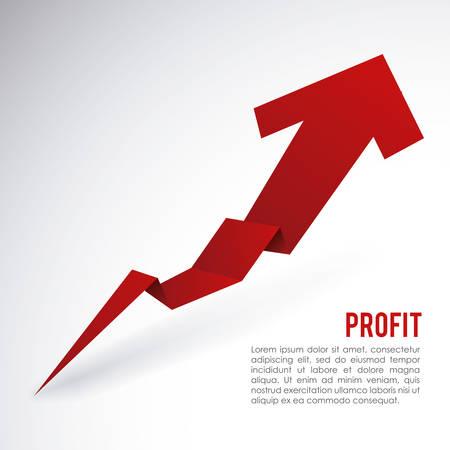 grow up: profit graphic design , vector illustration